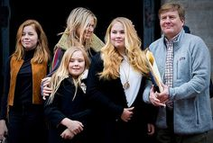 Dutch Princess Beatrix's 80th Birthday Reception attended by Princess Alexia, Queen Maxima, Princess Ariane, Princess Amalia The Princess of Orange and King Willem-Alexander