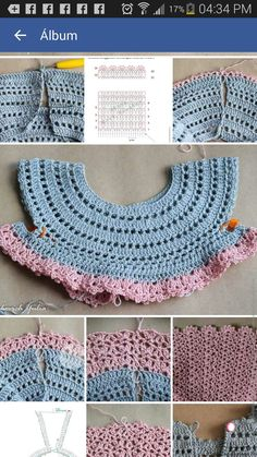 Ideas for baby girl crochet clothes stitches Crochet Girls Dress Pattern, Baby Girl Crochet, Crochet Baby Clothes, Crochet For Kids, Pattern Dress, Crochet Fabric, Crochet Motif, Crochet Designs, Crochet Patterns