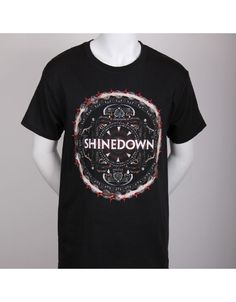 Shinedown Disc Basic Mens T-Shirt - Guaranteed Authentic.  Fast Shipping.