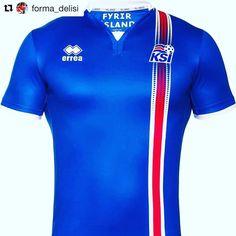 #Repost 2016 Iceland shirt from @forma_delisi  Euro 2016'daki en iyi 3 formadan biri.  One of the best 3 shirts in Euro 2016. #football #footballshirt #footballshirts #iceland #icelandfootball #errea  #euro2016 #futbol #instafootball #picofthenight #TUR #gudjohnsen #bjork
