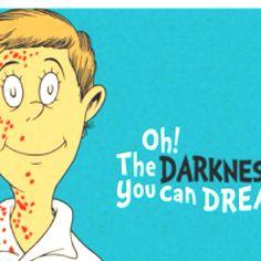 Dexter as a Dr. Seuss character