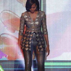 The First Lady is looking good!