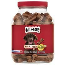 Milk-Bone Soft & Chewy Beef & Filet Mignon Recipe Dog Treats (37 oz.)