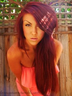 love her hair color it looks good with her skin. I wonder how it would look on pale skin