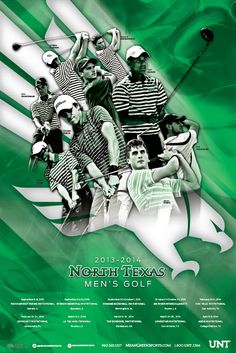 North Texas Men's Golf Poster (2013-2014)