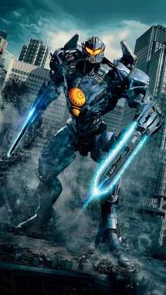 "Wallpaper for ""Pacific Rim: Uprising"" can find Pacific rim and more on our website.Wallpaper for ""Pacific Rim: Uprising"" Pacific Rim Kaiju, Pacific Rim Movie, Pacific Rim Jaeger, Wallpaper Marvel, Man Wallpaper, Robot Wallpaper, Wings Wallpaper, Movie Wallpapers, Animes Wallpapers"