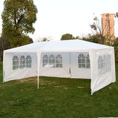 Flexzion Outdoor Party Wedding Tent x Canopy Gazebo Pavilion Catering Events Easy Set Without Sidewalls for Camping BBQ Commercial Flea Market Patio Tents, Backyard Canopy, Patio Gazebo, Canopy Outdoor, Garden Canopy, Pergola Swing, Pergola Shade, Diy Pergola, Car Canopy