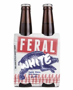 Feral Brewing Company beer packaging designed by Block Branding.