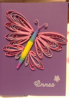 Butterfly by quilling