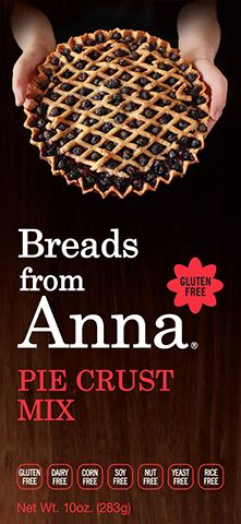 Breads From Anna - Pie Crust Mix. Gluten-Free. Dairy-Free. Corn-Free. Soy-Free. Nut-Free. Yeast-Free. Rice-Free. GMO-Free.