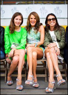 coordinated fashion friends: aurora sansone, anna dello russo and viviana volpicella