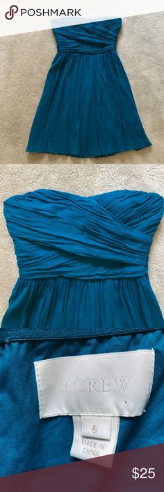 J. Crew dress strapless silk 6 Excellent condition J. Crew Dresses Strapless