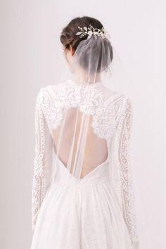 barely there wedding veil minimal