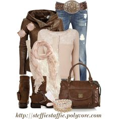 Rustically Feminine, created by steffiestaffie on Polyvore