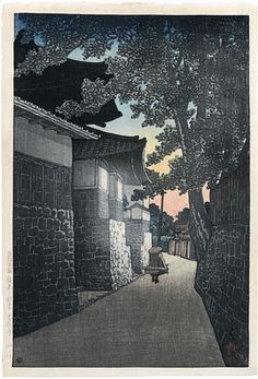 Kawase Hasui (1883-1957): Souvenirs of Travel, Second Series: Kosho Temple, Himi, Etchu, woodblock print, ca. 1921. SOLD.