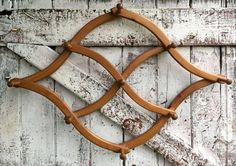 Wooden Accordion Peg Hook Large vintage by LititzCarriageHouse