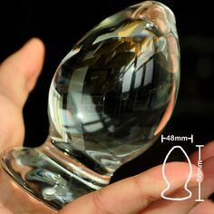 48mm vetro pyrex dildo anale sfera butt cristallo spina della vagina bead pene maschile masturbatore prodotto adulto giocattoli del sesso per le donne degli uomini gay