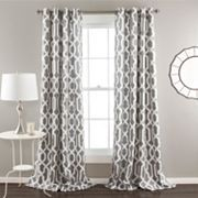 Lush Decor Edward 2-pk. Room Darkening Curtains - 52'' x 84''