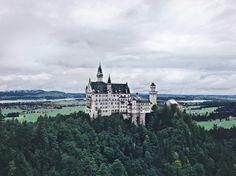 #castle #Germany #mountains #nature #forest #view #trip #Neuschwanstein #нойшванштайн #bavaria #alpes