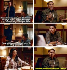 """""""That dude get weirder every time I see him"""" - Wally, Joe, Iris and Barry #TheFlash"""
