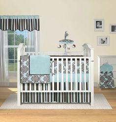 Cute baby boy crib bedding set