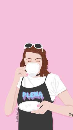 Tumblr Wallpaper, Pink Wallpaper, Wallpaper Backgrounds, Ios Wallpapers, Pretty Wallpapers, Walpapers Cute, Book Cover Background, Happy Cartoon, Foto Instagram
