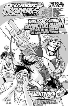 Komikero Komiks Issue 6. Linework and layout by me and grayscale by Neil Amiel Cervantes.