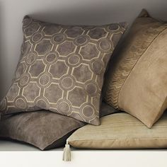 Suede Cutwork Pillow Cover, Gray