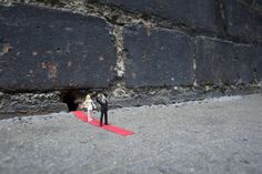 Slinkachus (@slinkachu_official) miniature installations bring street art to the micro level. Working very low to the ground has given me a different perspective says the London-based artist whose real name is Stuart Pantoll.