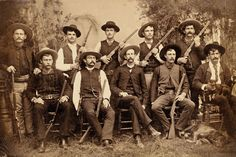 """Unofficially formed by Stephen Austin in 1823 and officially organized in 1835, the Texas Rangers has a storied history of tracking down fugitives and protecting the border. This circa 1885-88 cabinet card is an excellent photo of Company """"F"""" of the Frontier Battalion."""