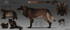 When I made my character, Ero, originally I felt that her markings were not what I wanted. I just wanted her to be brown with some white patches, but I ended up making her too complicated. Cute Wolf Drawings, Animal Drawings, Big Wolf, Predator Art, Wolf Character, Wolf Artwork, Fantasy Beasts, Wolf Pictures, Wolf Design
