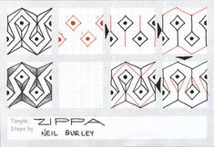 Bank Holiday Special Part Two: a great border pattern, but also will fill in gaps nicely. Several ways of drawing this (as normal) but this is the way it happened when I was experimenting. I think ...