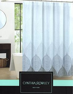 Cynthia Rowley Mosaic Medallions Ombre Blue White Fabric Shower Curtain  Mosaic Waves Cynthia Rowley Http: