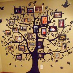 New family tree photo wall design ideas