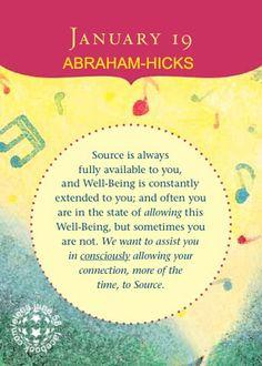 Abraham-Hicks - Perpetual Calendar - January 19