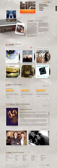 Tim Palmer - produced and mixed albums - #Webdesign #inspiration www.niceoneilike.com
