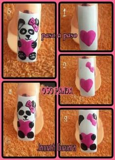ideas nails valentines day simple art for 2019 Trendy Nail Art, New Nail Art, Cool Nail Art, Disney Nail Designs, Nail Art Designs Videos, Animal Nail Art, French Nail Designs, Winter Nail Art, Simple Nails