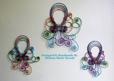Tropical Octopus Set- Handmade Wall Hanging by melissawoods on Etsy