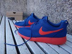 Nike Roshe Run Blue/Orange Volt AU TIGERS