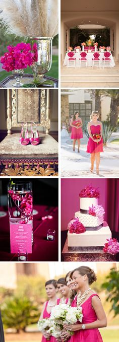 Fuchsia wedding colour palette // via Jet Fete Blog