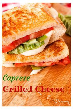 Yum! Fresh basil, tomato and mozzarella with grilled Italian bread makes this a hearty sandwich that is perfect for summer.
