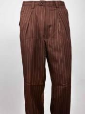 ID Wide Leg Pleated creased Coco Chocolate brown Pinstripe Pant Mens Wide Leg Trousers, Mens Slacks, Pinstripe Pants, Wide Leg Pants, Big Legs, Matching Shirts, Wool Fabric, Hats For Men, Dress Pants