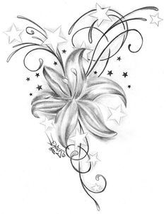 Tattoo Images Tattoo Templates Lilies Tattoo Motive-Lily Blossom Tattoo B Tattoo-Designs Lily Tattoo Design, Tribal Tattoo Designs, Flower Tattoo Designs, Tattoo Designs For Women, Tribal Tattoos, Geometric Tattoos, Flower Designs, Tattoos Skull, Maori Tattoos