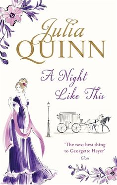I heart Julia Quinn. Her witty romance novels never fail to pick me out of a blue mood.