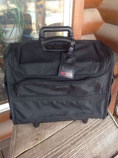 TUMI Wheeled Alpha Briefcase Luggage Carry On Travel Bag #2276D3 Pilot Case Nice #Tumi