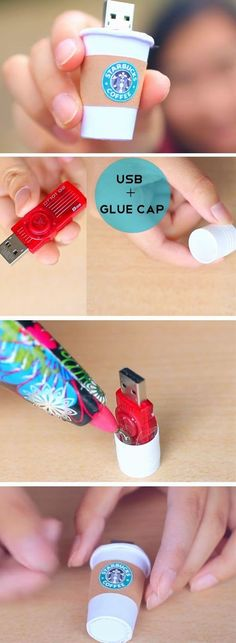 The best DIY projects & DIY ideas and tutorials: sewing, paper craft, DIY. Ideas About DIY Life Hacks & Crafts 2017 / 2018 Starbucks USB Cute Crafts, Diy Crafts For Kids, Easy Crafts, Easy Diy, Teen Crafts, Kids Diy, Homemade Crafts, Creative Crafts, Diy Home Decor For Teens