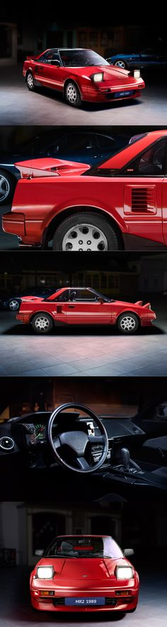 1989 Toyota MR2 / Japan / red