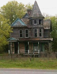 An elegant Victorian mansion, now forgotten in Kosse,Texas.