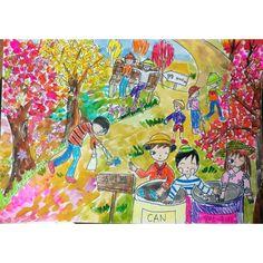 이미지: 사람 1명 Art Lessons For Kids, Art For Kids, Save Water Poster Drawing, Sweets Art, Watercolor Techniques, Whimsical Art, Art Education, Projects To Try, Drawings