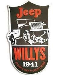 Vintage Look Metal Embossed Jeep Willys 1941 Reliable 4WD Sign - JeepHut